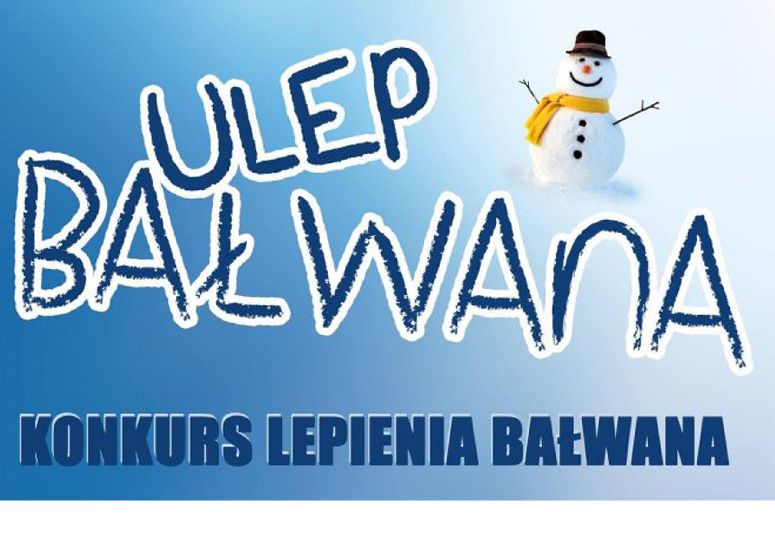 logo konkursu ulep bałwana