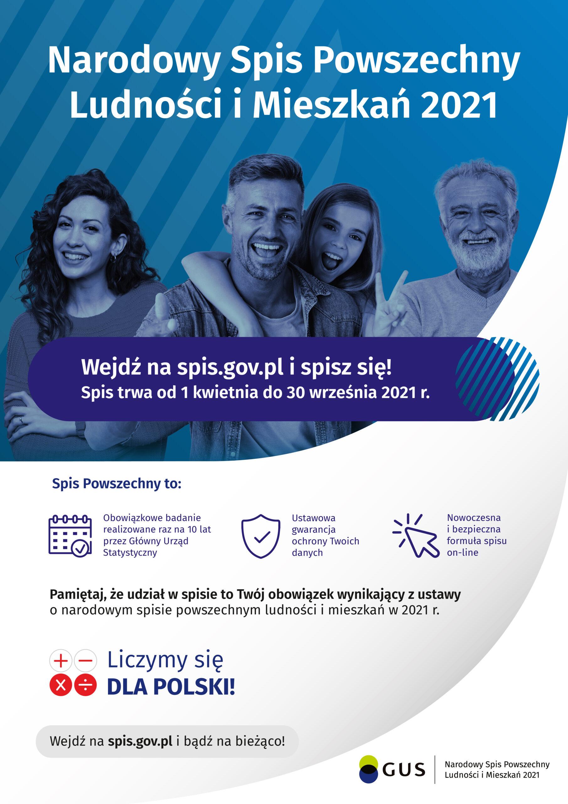Narodowy Spis Powszechny Ludności i Mieszkań 2021- plakat