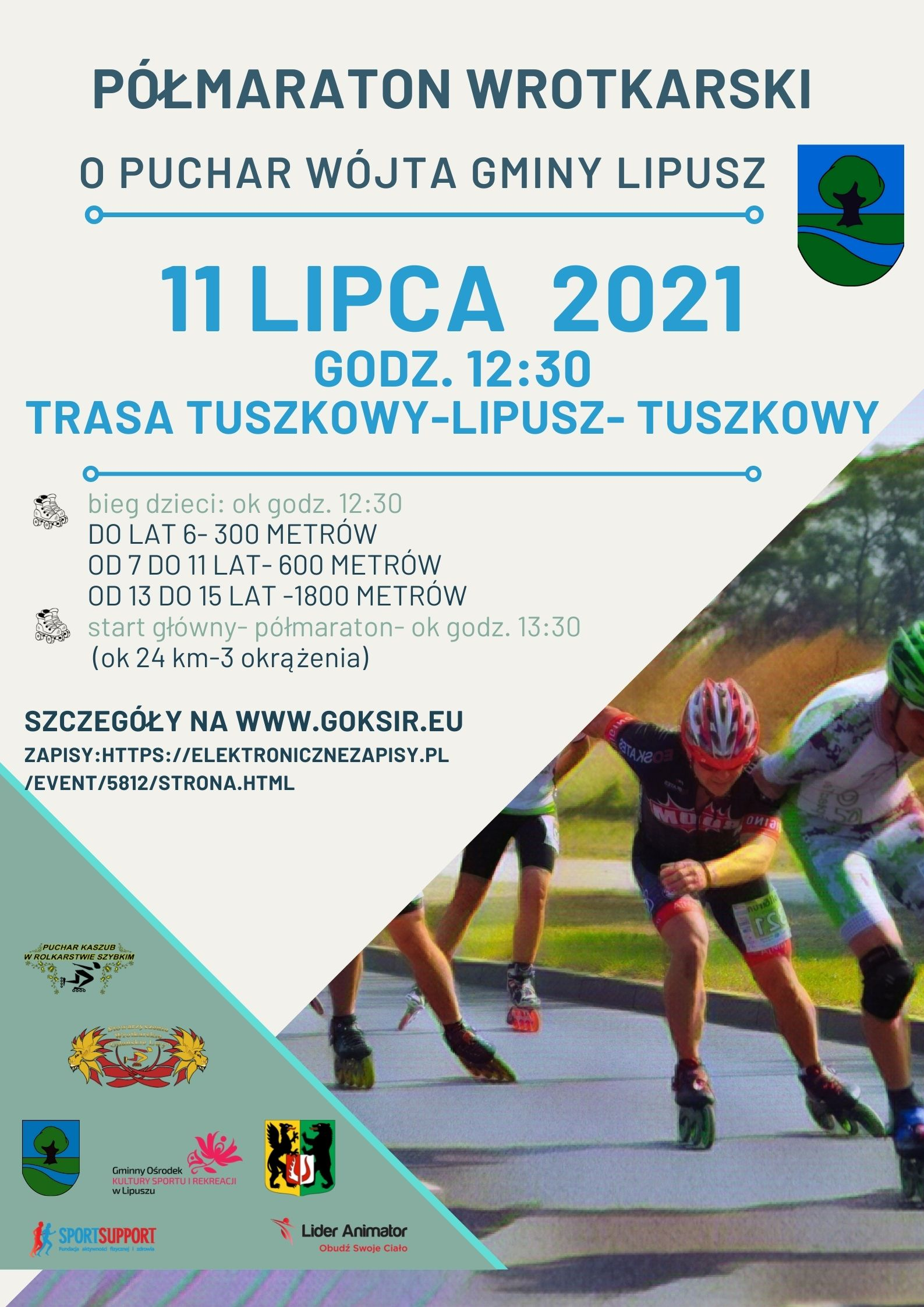 Półmaraton Wrotkarski o puchar wójta gminy Lipusz