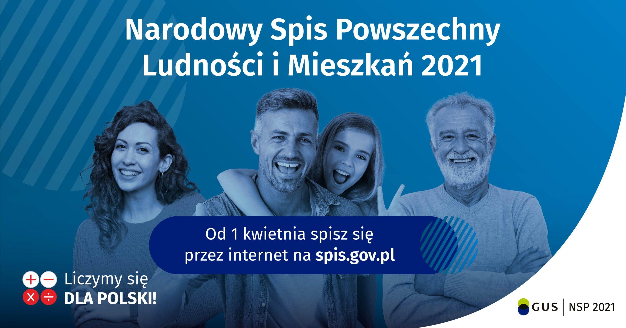 Narodowy Spis Powszechny Ludności i Mieszkań 2021 plakat