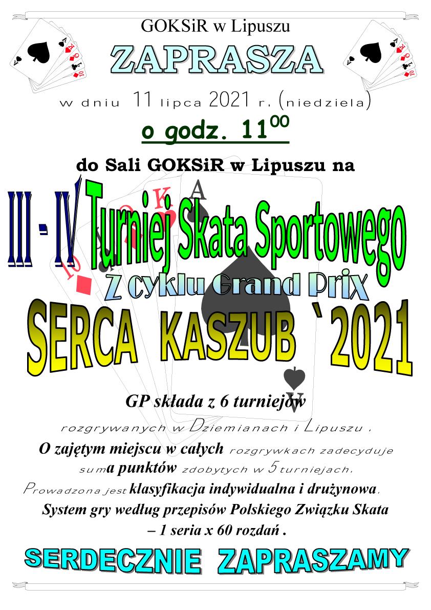III i IV turniej Skata Sportowego z cyklu GP Serca Kaszub 2021